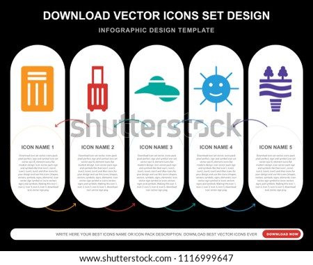 5 vector icons such as chair