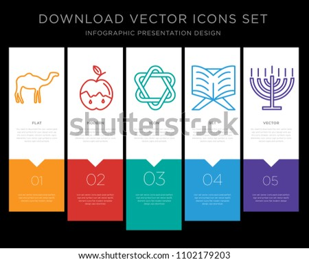 5 vector icons such as