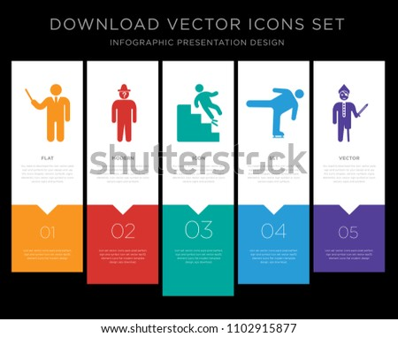 5 vector icons such as elegant