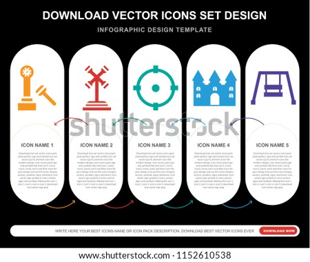5 vector icons such as hammer