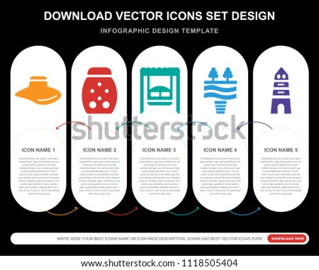 5 vector icons such as hat