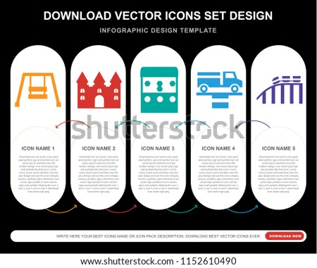5 vector icons such as hook