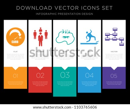 5 vector icons such as low carb