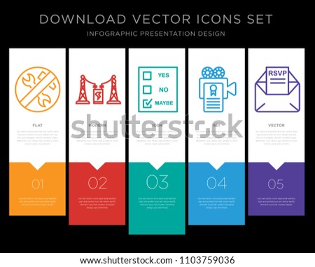 5 vector icons such as low