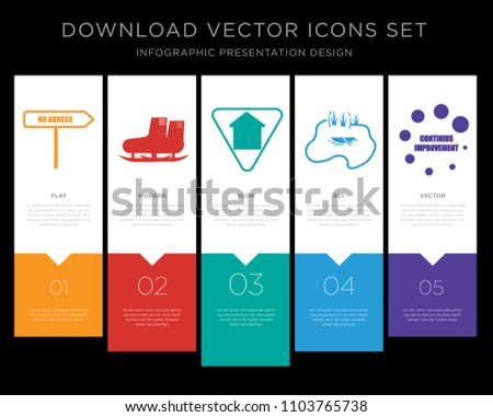 5 vector icons such as no