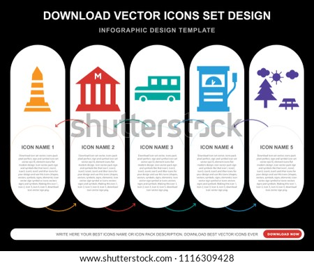 5 vector icons such as obelisk