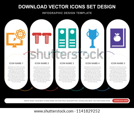 5 vector icons such as science