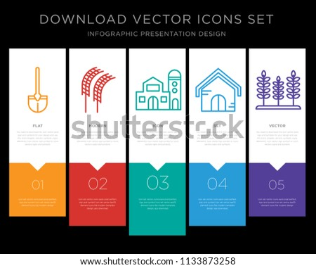 5 vector icons such as shovel
