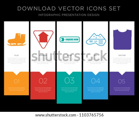5 vector icons such as snowshoe