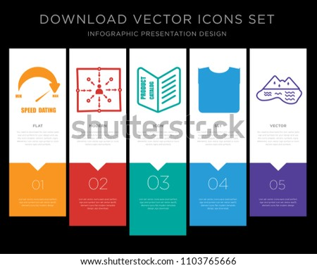 5 vector icons such as speed