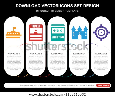 5 vector icons such as tea cup