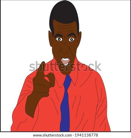 vector illustration  black man