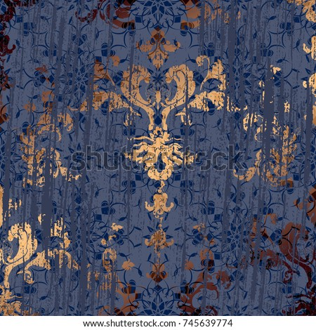vector illustration damask