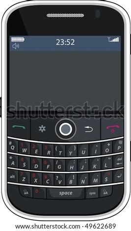 Vector - Illustration of a modern smart phone for mobile communication