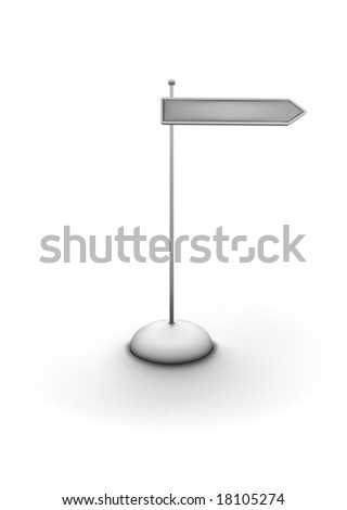 Vector illustration of arrowed direction sign. You can easily change color, put in your own signage text.