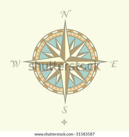 """Vector illustration of Compass Windrows. Great for any """"direction"""" you want to go..."""