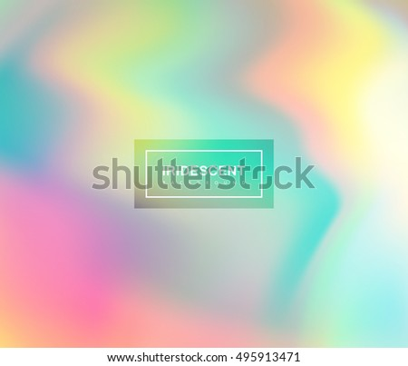 Shutterstock  Vector illustration of iridescent rainbow fluids. Holographic neon effect. Applicable for flyer, banner, poster, brochure, cover. Spectrum colors