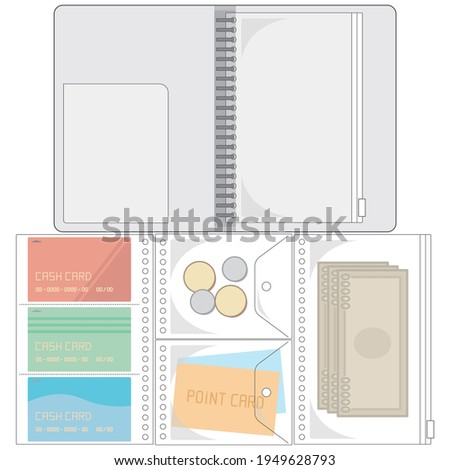 バインダーでお金の管理をするベクターイラスト(Vector illustration of managing money with a binder.) ストックフォト ©