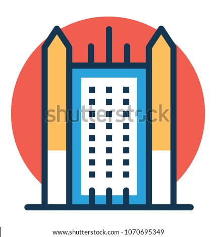 Vector illustration of PPG Palace, United States