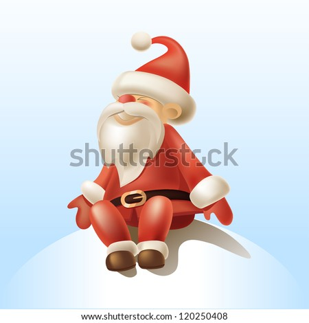 Stock Photo 2016 Vector Illustration of Santa Claus