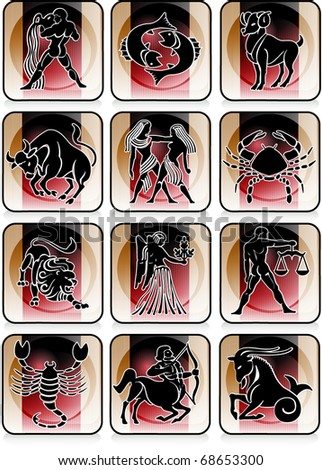 """vector illustration of signs of the zodiac"