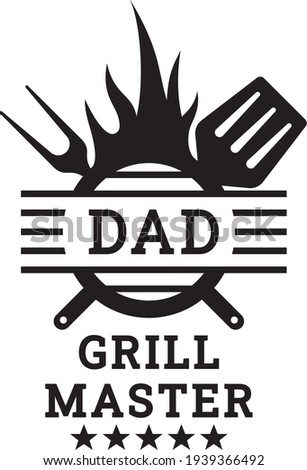 Vector illustration of the Dad grill master Zdjęcia stock ©