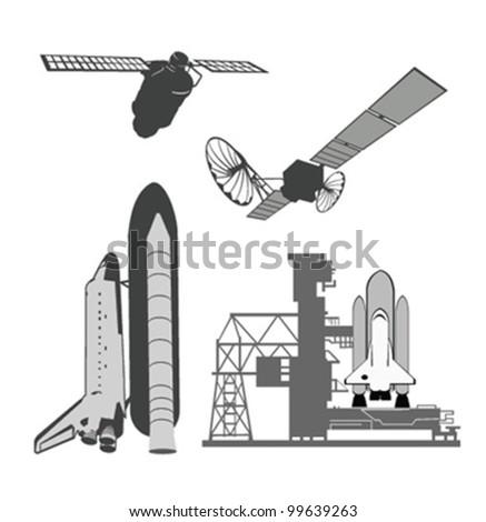 Vector illustration .Space elements.