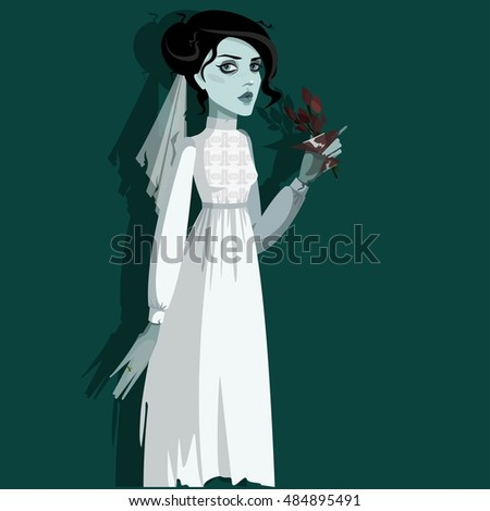 Stock Photo  Vector illustration with Dead bride.