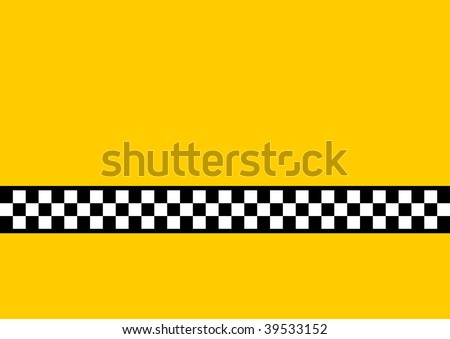 (Vector) Inspired by the famous New York Yellow Cabs, with plenty of copy space. A jpg version is also available.