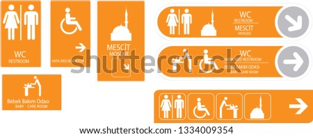 vector interior signage concept direction pole wall mount.