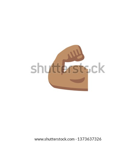 Vector isolated biceps icon - Vector