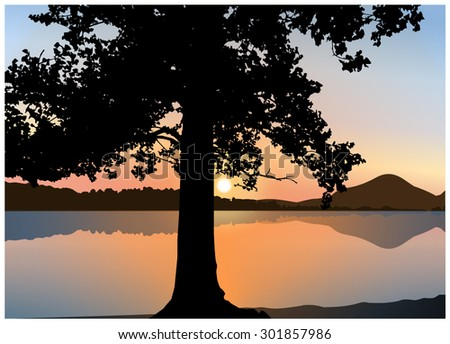 vector landscape silhouette