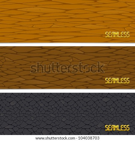 3 vector leather perfect seamless patterns