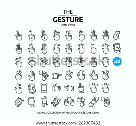 50 vector line icons set for