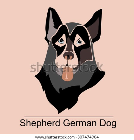 vector logo head of the german
