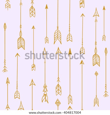 Vector modern seamless pattern Arrows for bow. textile print, texture, monochrome fashion design