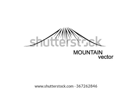 vector mountain outlines logo