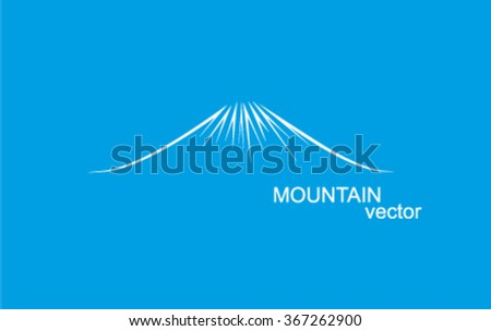 vector mountain outlines logo