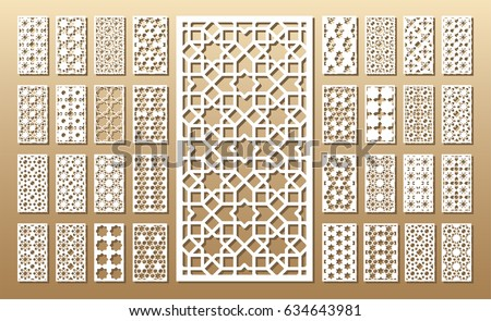 Cutout Silhouette With Arabic Girih Geometric Pattern A Picture
