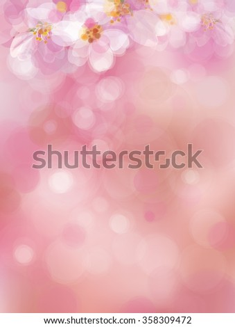 vector  pink  bokeh background