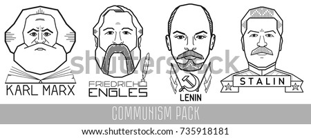 vector portraits of historical