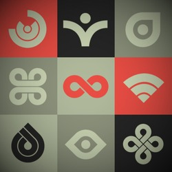 Vector Retro Abstract Icons