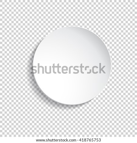 Vector round plate Illustration on transparent background. background for your design.Empty white paper  #418765753