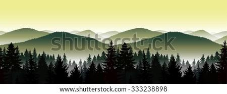 vector seamless landscape