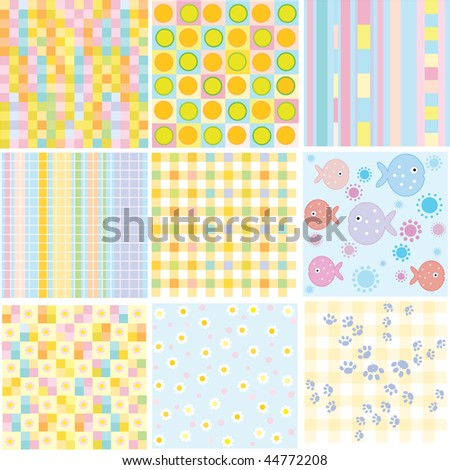 Vector seamless patterns for your design - stock vector