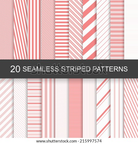 20 vector seamless striped