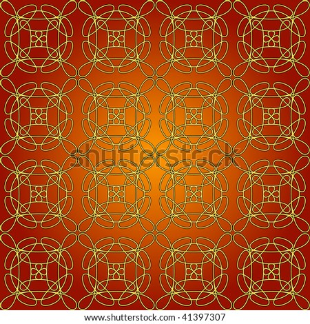 (Vector) Seamless tile with swirly whirly patterns. The single pattern is included as a hidden layer which can be used to change the overall repeat pattern size.  A Jpg version is also available.