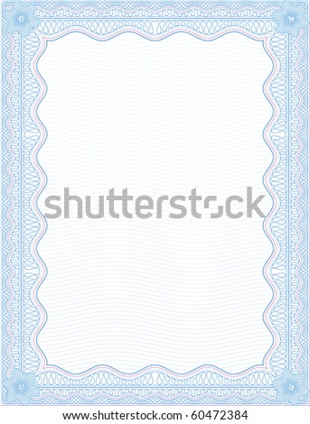 VECTOR SECURE background BLANK CERTIFICATE