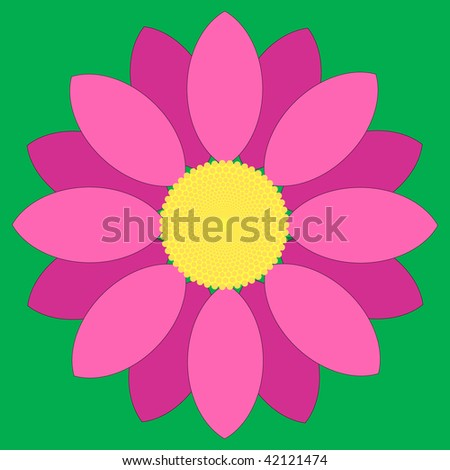(Vector) Simple pink flower design.