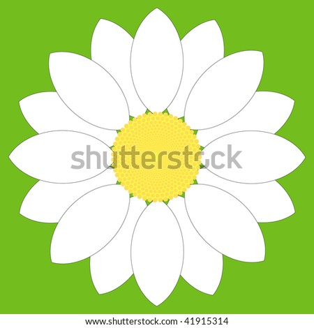 (Vector) Simple white flower design. A Jpg version is also available.